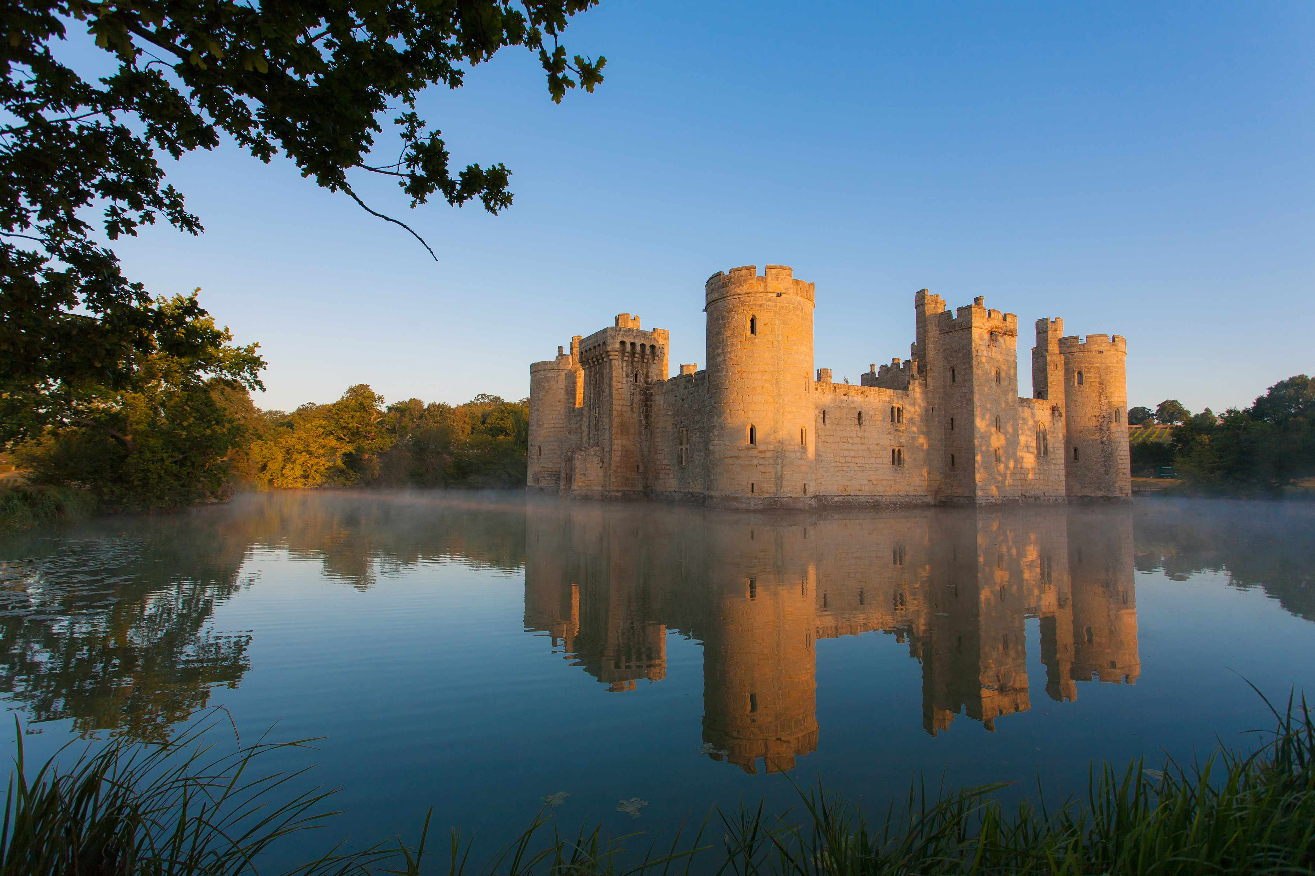 """The 14th-century Bodiam Castle, Sussex. """"All historians and students of history have to think about how the society they are studying functions,"""" says Dr Alice Taylor. (Picture by Getty Images)"""