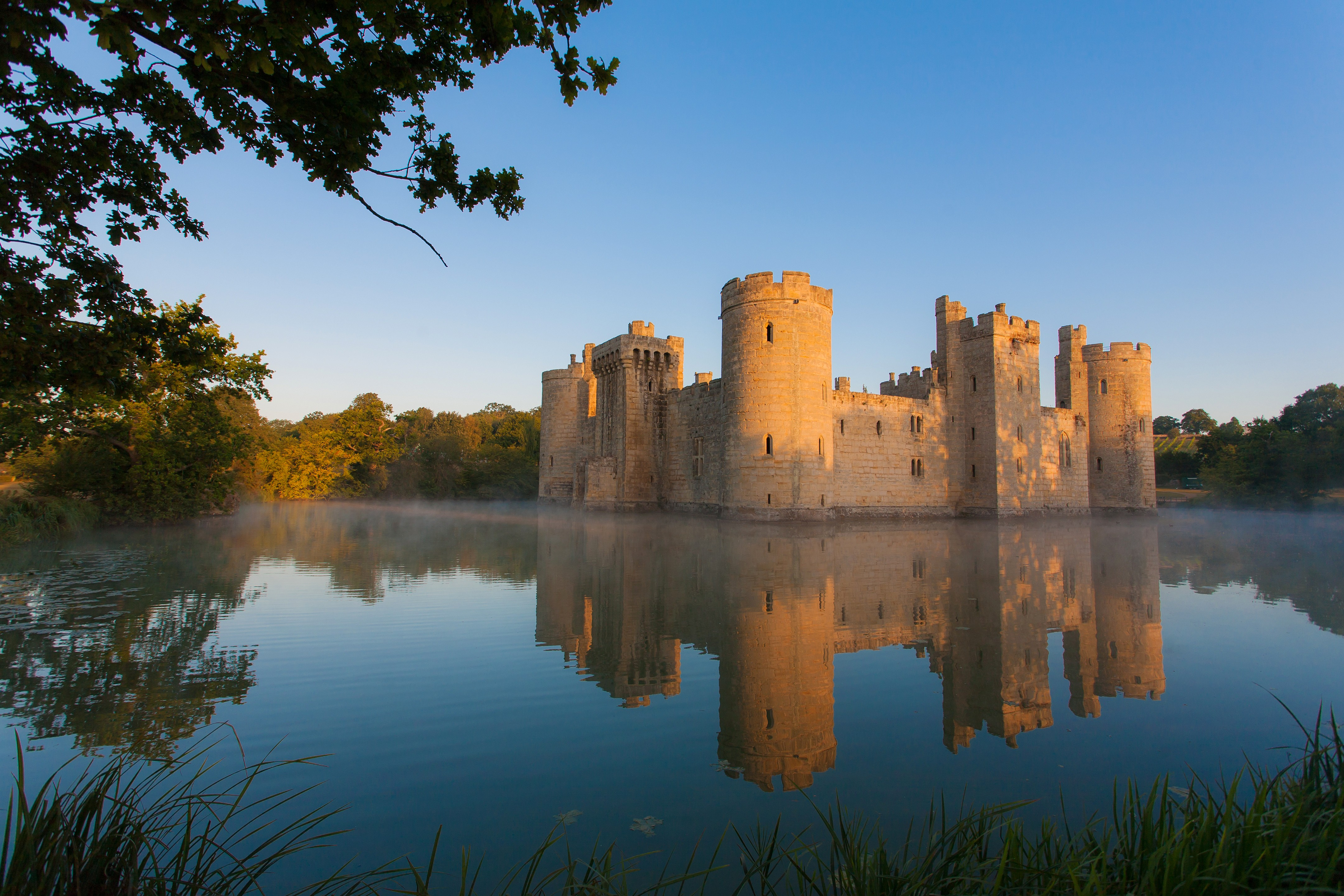 "The 14th-century Bodiam Castle, Sussex. ""All historians and students of history have to think about how the society they are studying functions,"" says Dr Alice Taylor. (Picture by Getty Images)"