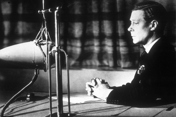 Edward VIII, photographed during a broadcast in 1935, was quick to appreciate the potential of radio as a platform from which to promote his agenda, says Ted Powell. (Photo by Keystone/Getty Images)