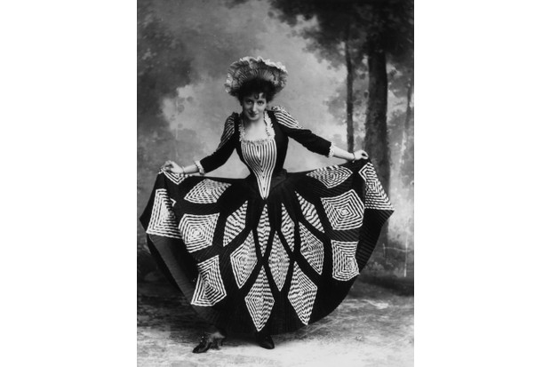Performers such as Lottie Collins – famous for the song 'Ta-ra-ra Boom-de-ay' – popularised 'skirt-dancing' in the music halls of Victorian England. (Photo by London Stereoscopic Company/Getty Images)