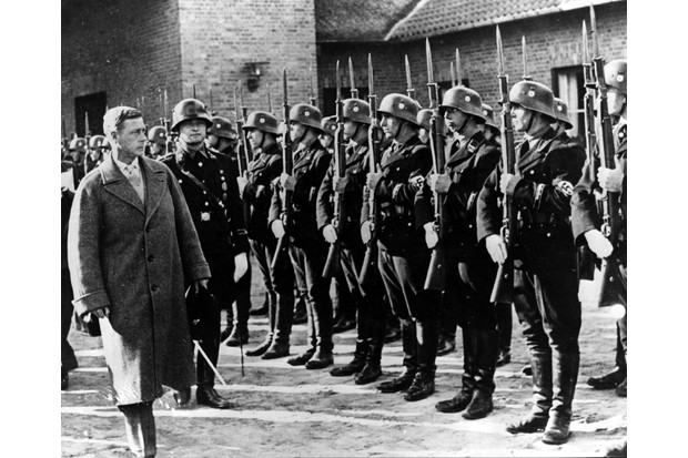 The Duke of Windsor inspects soldiers at the Croessinsee Nazi training school during a visit to Germany in 1937. In the mid-1930s the duke consistently sought to promote good relations with Germany, says Ted Powell. (Photo by Keystone/Getty Images)