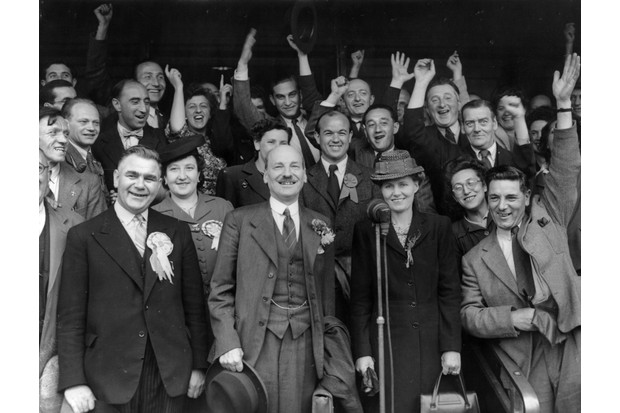 If a researcher is interested in the history of a political party, such as the Labour party, suggests Dean Blackburn, they might ask questions such as why the party won Britain's 1945 general election under Clement Atlee. (Photo by Central Press/Getty Images)