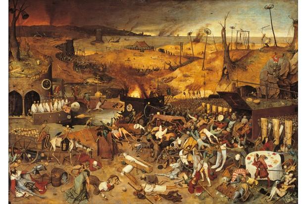 The Triumph of Death, by Pieter Bruegel the Elder, 1562, 16th Century, oil on wood, 117 x 162 cm. (Photo by Remo Bardazzi / Electa / Mondadori Portfolio via Getty Images)
