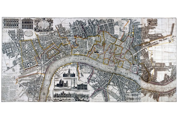 We can use a map produced by a cartographer in the 18th century to better understand the moment it was produced, but we might ask certain kinds of questions, suggests Dean Blackburn. (Photo by Guildhall Library and Art Gallery/Heritage Images/Getty Images)