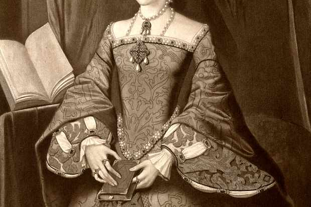 An illustration of the young Elizabeth I, about 10 years before she became queen of England. (Photo by Time Life Pictures/Mansell/The LIFE Picture Collection via Getty Images/Getty Images)