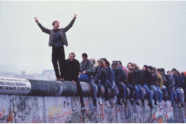 Ian Kershaw lived near the Berlin Wall in 1989 but that didn't necessarily make analysing its fall (pictured here) any easier. (Photo By Stephen Jaffe/Getty Images)