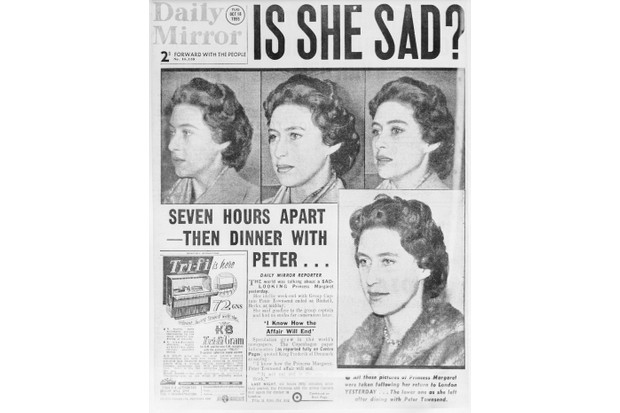 A copy of the front page of the London Daily Mirror from Tuesday 18 October 1955. (Photo by Bettman via Getty Images)