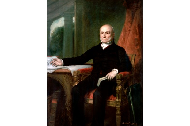 An official portrait of US president John Quincy Adams by George PA Healy. (Photo by GraphicaArtis/Getty Images)