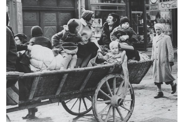 """Refugees from Carpatho-Ukraine flee Hungarian troops in 1939. """"There has not been an armed conflict between member states since the foundation of the EU,"""" observes Denise Dunne. (Photo by © Hulton-Deutsch Collection/CORBIS/Corbis via Getty Images)"""