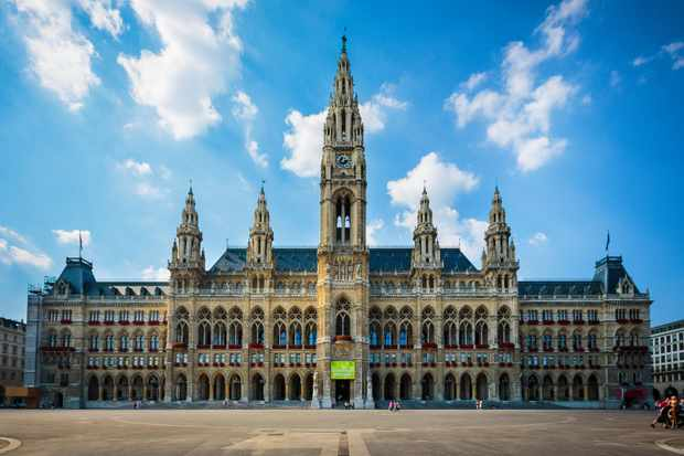 Vienna's magnificent city hall, built between 1872 and 1883, can be found in the heart of the city. (Picture by Moment/Getty Images)