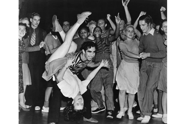 American swing dancers Hal and Betty Takier dance in California, 1939. Swing dance trends exploded in the 1930s and 40s with popular dances including the energetic jive, lindy hop and the jitterbug. (Image by Michael Ochs Archives / Stringer / Getty Images)
