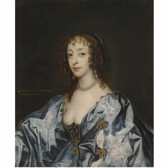 Henrietta Maria poses for a portrait by Anthony van Dyck, c1638. (Photo by Fine Art Images/Heritage Images/Getty Images)