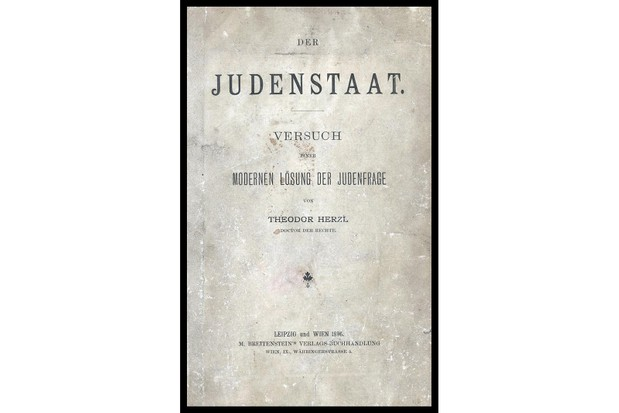 Theodor Herzl's pamphlet Der Judenstaat (1896), proposing a Jewish country