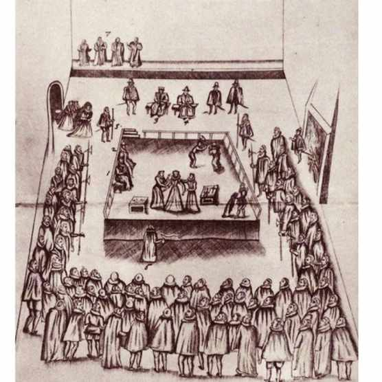 The execution of Mary, Queen of Scots at Fotheringhay Castle, 1587. From 'The Island Race', a book written by Sir Winston Churchill and published in 1964 that covers the history of the British Isles from pre-Roman times to the Victorian era. (Photo by Universal History Archive/UIG via Getty Images)
