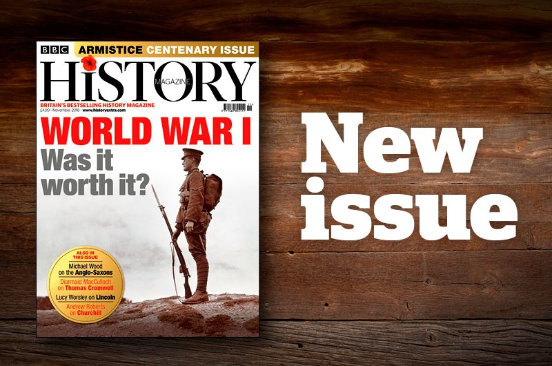 The November 2018 issue of BBC History Magazine is on sale now.