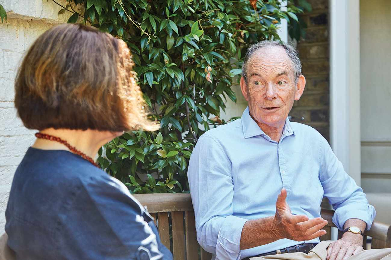 Professor Kathleen Burk and Simon Jenkins discuss Jenkins's new book, 'A Short History of Europe'. (Photo by David Hampton for BBC World Histories magazine)