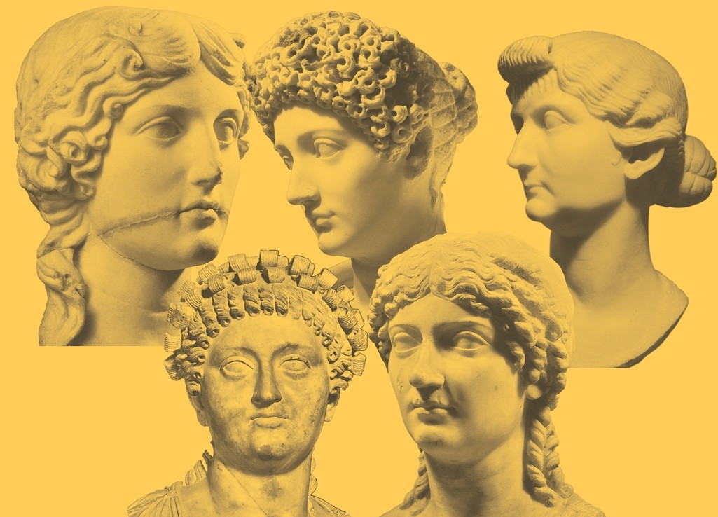 Top ( l-r) Agrippina the Elder, Julia, and Livia. Bottom (l-r) Messalina and Agrippina the Younger