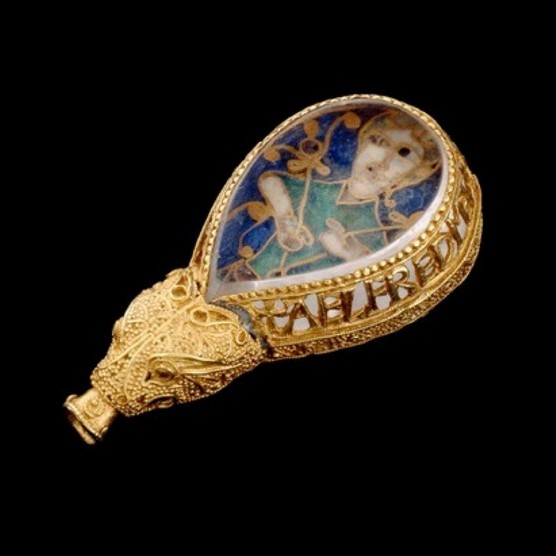 """The ninth-century Alfred Jewel, adorned with the inscription: """"Alfred ordered me to be made"""". This masterpiece of Anglo-Saxon art is thought to have been an aestel, a pointer used to follow text. (Picture by Alamy)"""