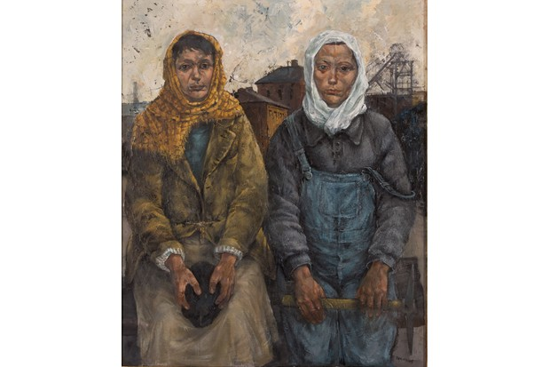 A 21st-century depiction of the Pit Brow Lasses by David Venables. (© The Artist's Estate)