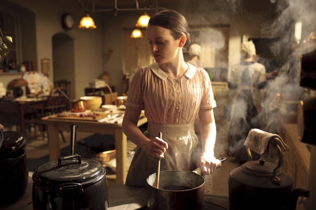 Sophie McShera as Daisy in Downton Abbey, 2010. (Picture by AF archive / Alamy Stock Photo)