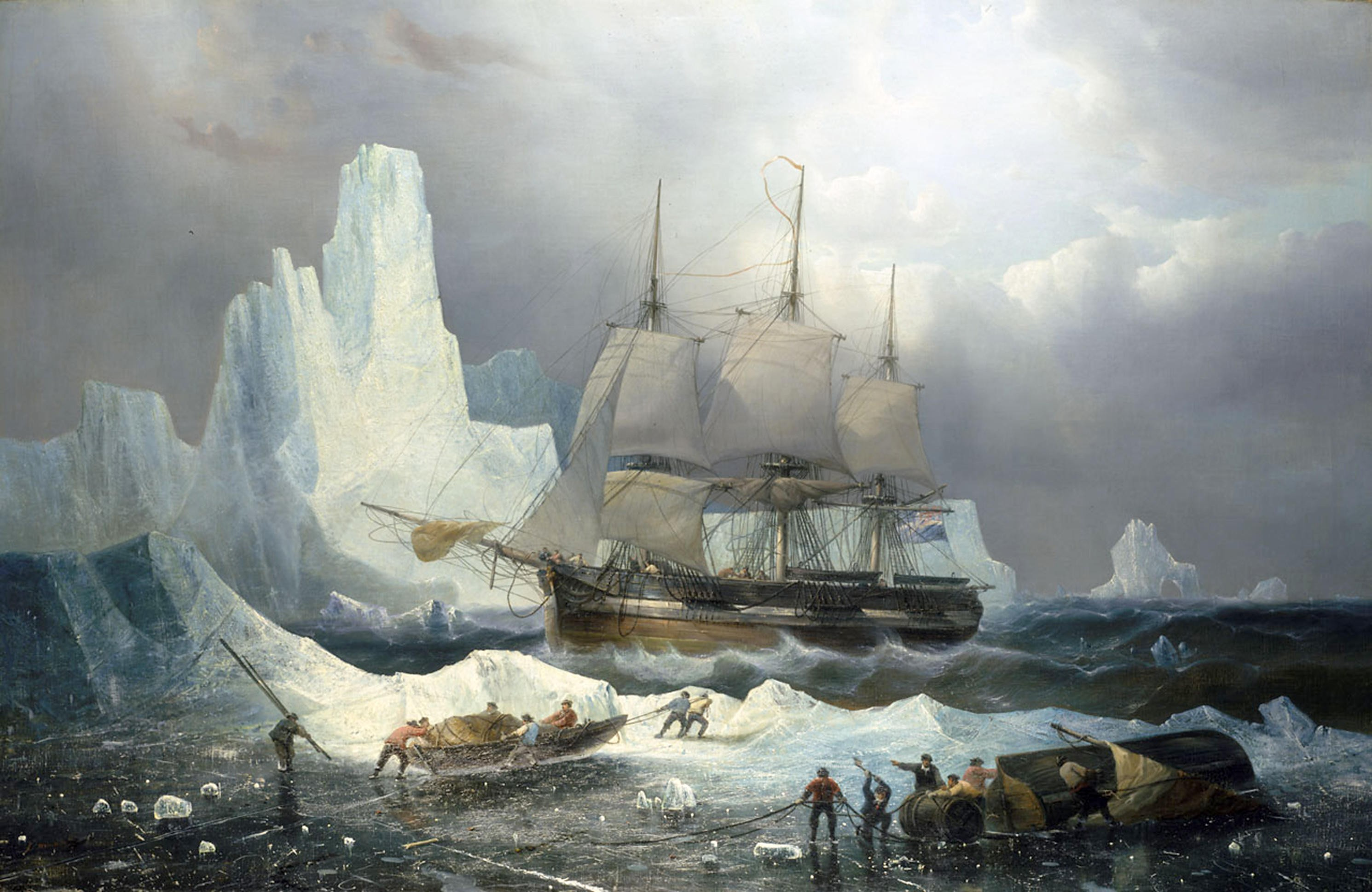 A 19th-century depiction of HMS Erebus in the ice, by François Etienne Musin. What exactly happened to the ship and its crew remains a mystery. (Picture by Alamy)