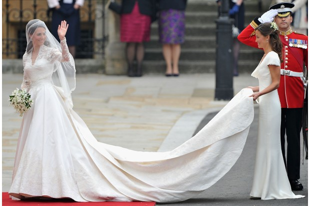 Modern royal brides continue to follow Victoria in showcasing British industry in their choice of wedding attire – including Catherine Middleton, says Carolyn Harris. (Photo by Pascal Le Segretain/Getty Images)
