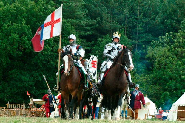 Cavalry at a battle of Bosworth re-enactment. (Photo by VisitBritain/Grant Pritchard via Getty Images)