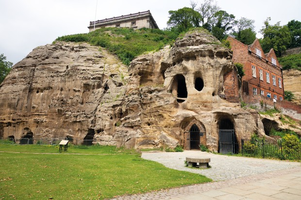 The caves at Nottingham Castle, where the ghost of Roger Mortimer has supposedly been spotted. (Photo by majana via Getty Images)