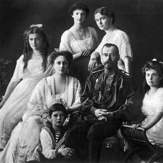 The Romanovs, 1913: Nicholas II with his wife and children. (Photo by Mondadori Portfolio via Getty Images)