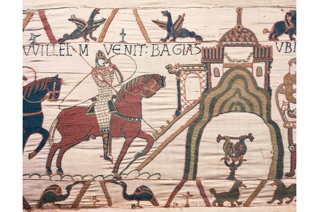 William the Conqueror arrives in Bayeux, detail from the Bayeux Tapestry. I would argue that William the Conqueror never went to Hastings, or at least to the site of modern Hastings, says Trevor Rowley. (Photo by DeAgostini/Getty Images)
