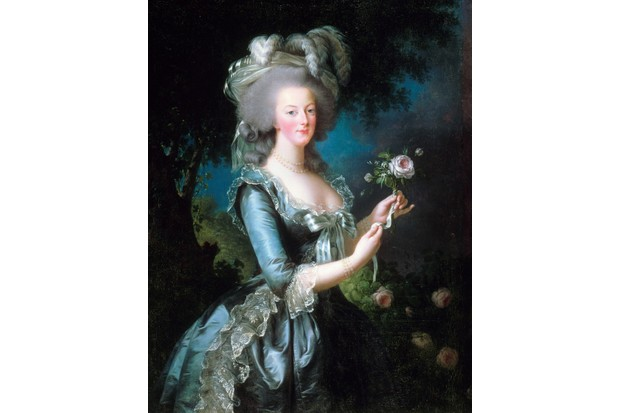 French queen Marie Antoinette devoted great efforts to her public image, though she committed a fashion faux pas on the day she married the future King Louis XVI in 1770. (Photo by: Universal History Archive/UIG via Getty Images)