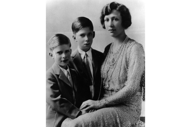 The Princess Royal, the only daughter of George V, with her children the Honourable Gerald and the Honourable George Lascelles, c 1931. (Photo by Keystone/Getty Images)