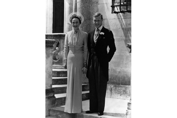 There was worldwide speculation about what Wallis Simpson would wear on the day of her wedding to the Duke of Windsor in 1937. (Photo by Central Press/Getty Images)