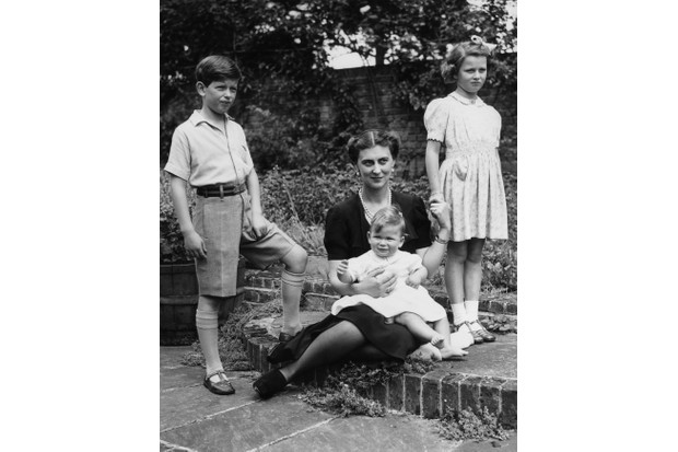 Marina, Duchess of Kent with her three children, Prince Edward (later Duke of Kent), Princess Alexandra and Prince Michael on his first birthday, in 1943. (Photo by Central Press/Getty Images)