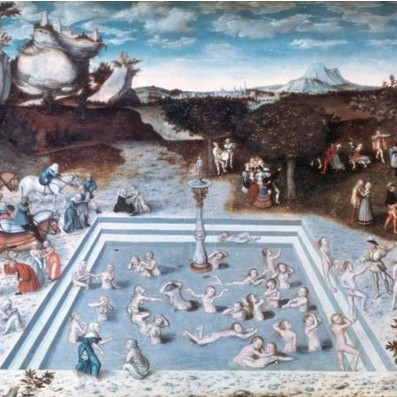 'The Fountain of Youth', 1546. From the collection of the Staatliche Museen zu Berlin, Gemaldegalerie, Berlin, Germany. (Photo by Art Media/Print Collector/Getty Images)