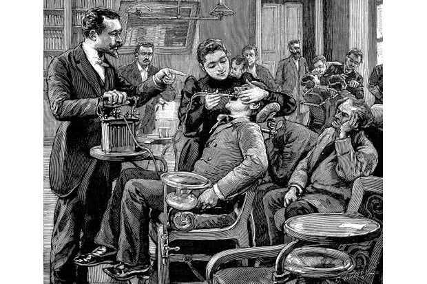 A patient receiving dental treatment, c1892. (Photo by Oxford Science Archive/Print Collector/Getty Images)