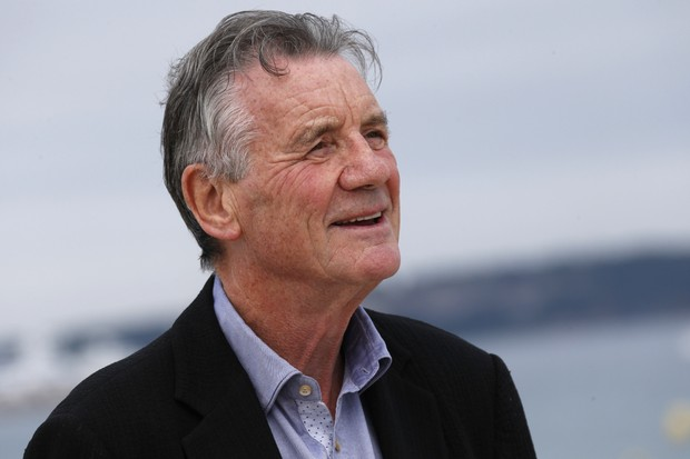 "Michael Palin, whose latest book chronicles the 19th-century polar voyages of HMS Erebus. ""My ultimate dream is to scuba-dive in Erebus's wreck,"" he says. (Photo by VALERY HACHE/AFP/Getty Images)"