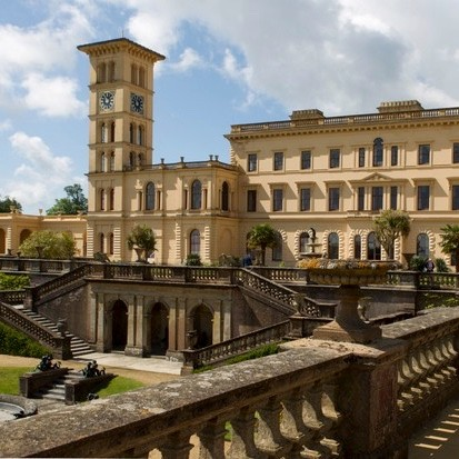 Osborne House was built as the summer residence of Queen Victoria and Prince Albert from 1846 with later alterations. It was designed by Cubitt in collaboration with Prince Albert and is now owned by English Heritage. (Getty Images)