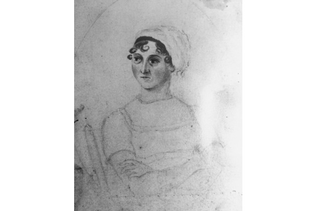 The National Portrait Gallery attributed this unfinished portrait to Jane Austen's sister, Cassandra, and dated it to circa 1810. (Photo by Time Life Pictures/Mansell/The LIFE Picture Collection via Getty Images/Getty Images)