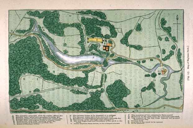Map of Bayham Park from 'Repton's Landscape Gardening and Landscape Architecture' by JC Loudon. (Photo by The Life Picture Collection/Getty Images)