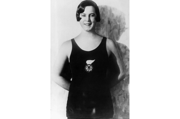 Swimmer Gertrude Ederle, photographed c1930, after becoming the first woman to swim across the English channel. (Photo by ullstein bild/ullstein bild via Getty Images)