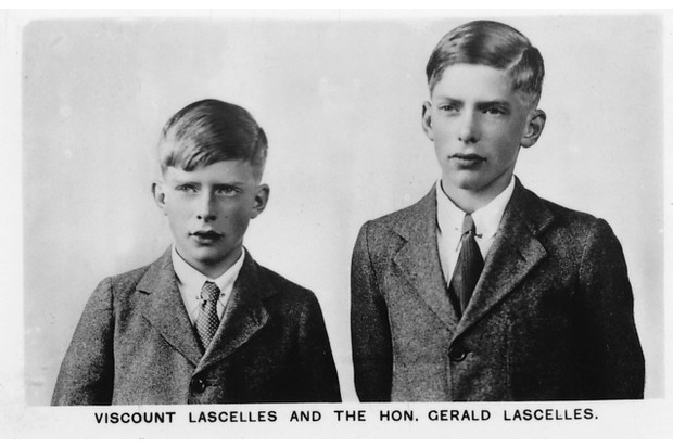 The Honourable Gerald and the Honourable George Lascelles, the sons of Princess Mary and grandsons of George V and Queen Mary. (Photo by The Print Collector/Getty Images)