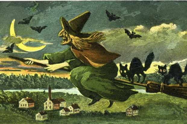 A depiction of a witch on a broomstick. (Photo by: Universal History Archive/UIG via Getty Images)