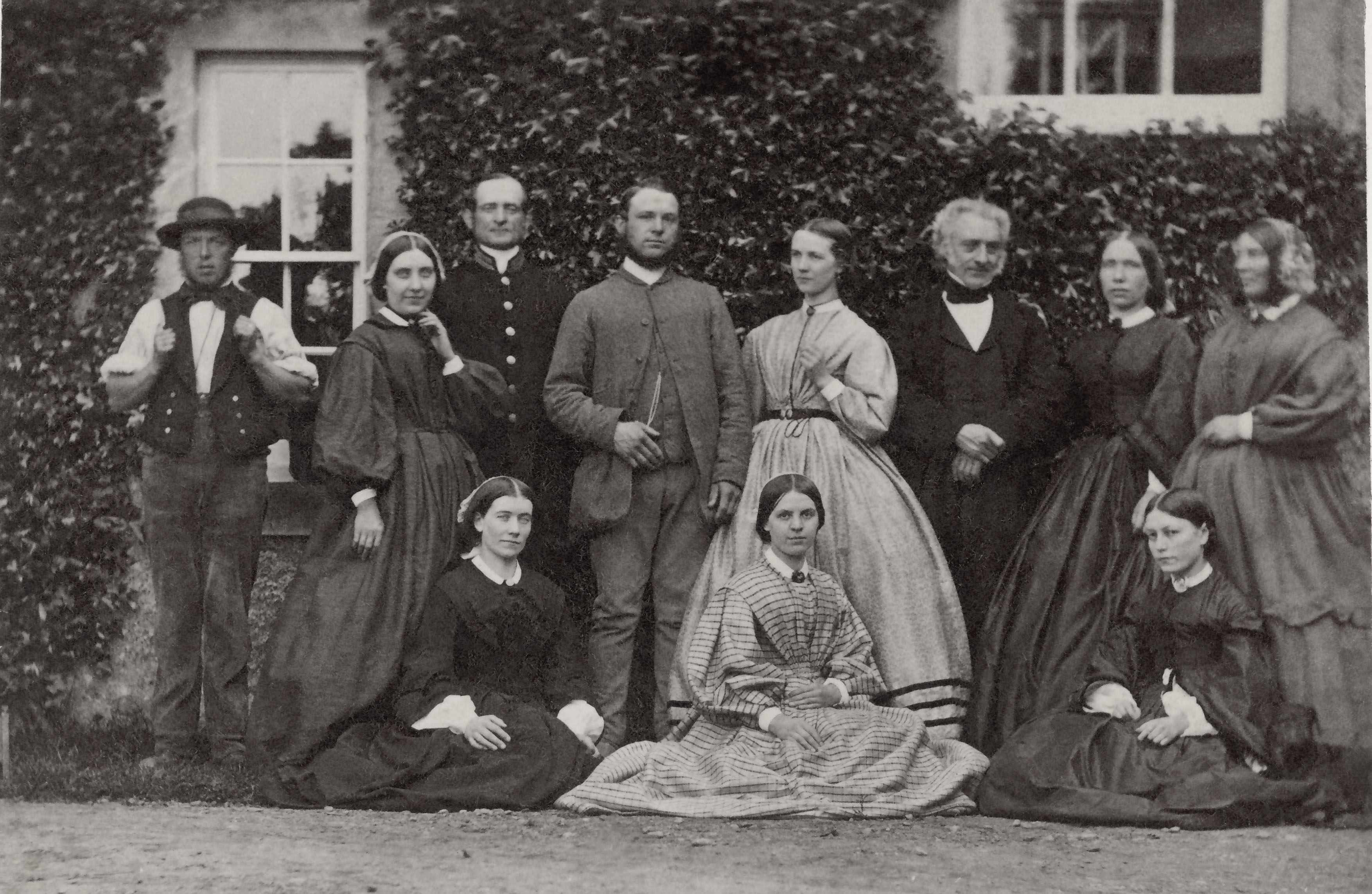 A group of household servants photographed in Northumberland, c1860–80. (Photo by SSPL/Getty Images)