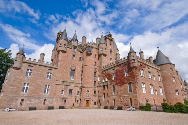 Glamis Castle is said to be the most-haunted castle in Scotland. (Photo by mpalis via Getty Images)