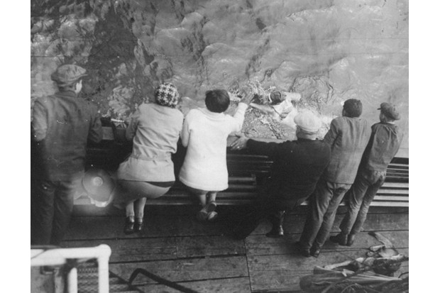 Friends and family watch Gertrude Ederle swim the English Channel from the tugboat 'Alsace'. (Photo by NY Daily News Archive via Getty Images)