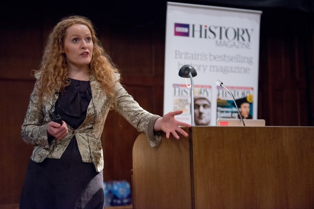 In a fascinating talk on Mary, Queen of Scots, historian Kate Williams discussed the influence and ambition of Mary's French family. (Photo by Mark Bickerdike for BBC History Magazine)