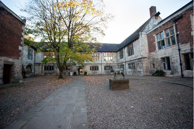 Our York History Weekend was hosted in two fantastic venues: Yorkshire Museum, one of the first purpose-built museums in England, and King's Manor, a stunning collection of Grade I listed buildings. Here you can see the courtyard of King's Manor. (Photo by Mark Bickerdike for BBC History Magazine)