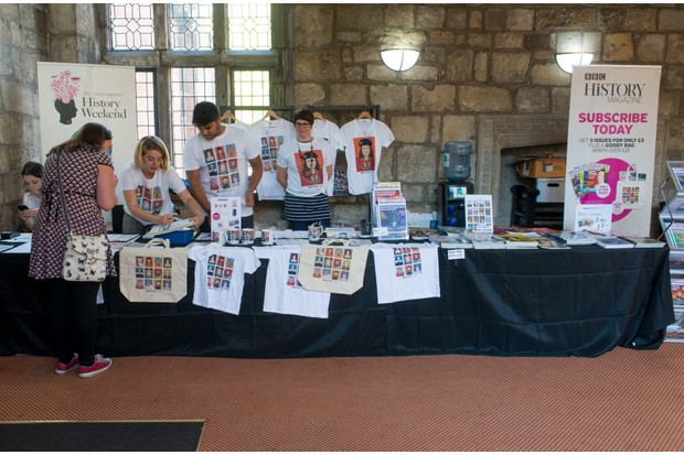 History fans were able to purchase limited edition BBC History Magazine merchandise from our history hub in King's Manor. (Photo by Mark Bickerdike for BBC History Magazine)