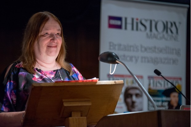 Historical novelist Alison Weir drew on new research to cast fresh light on Jane Seymour during her talk on Henry VIII's third wife. (Photo by Mark Bickerdale for BBC History Magazine)